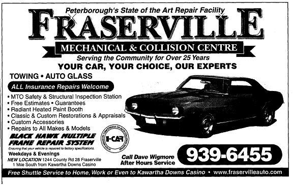 Fraswerville Mechanical & Collision Centre
